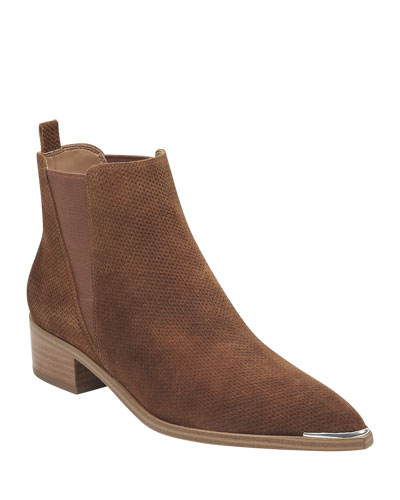 Yalen Brushed Suede Booties