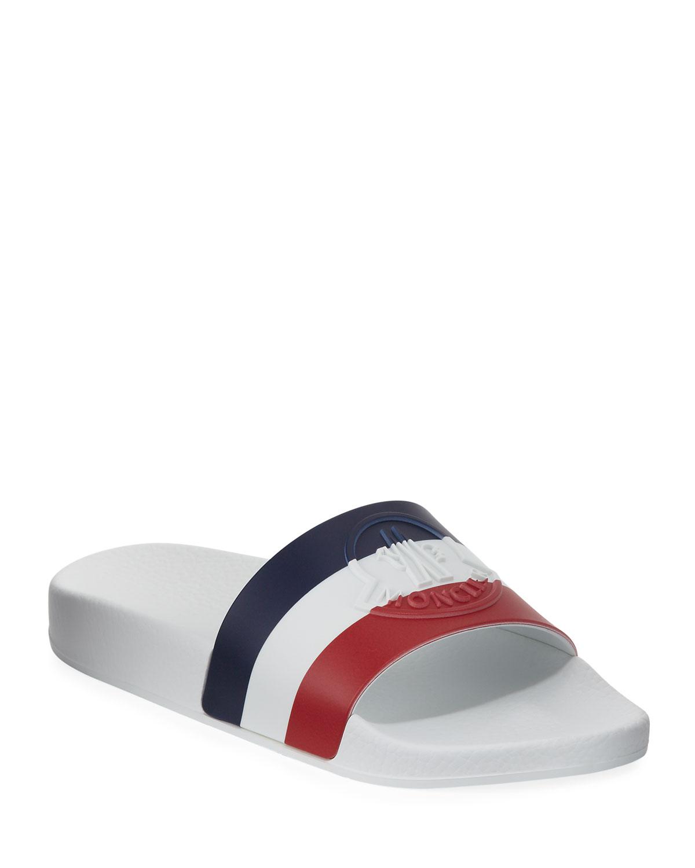 Jeanne Logo Stripe Pool Slides