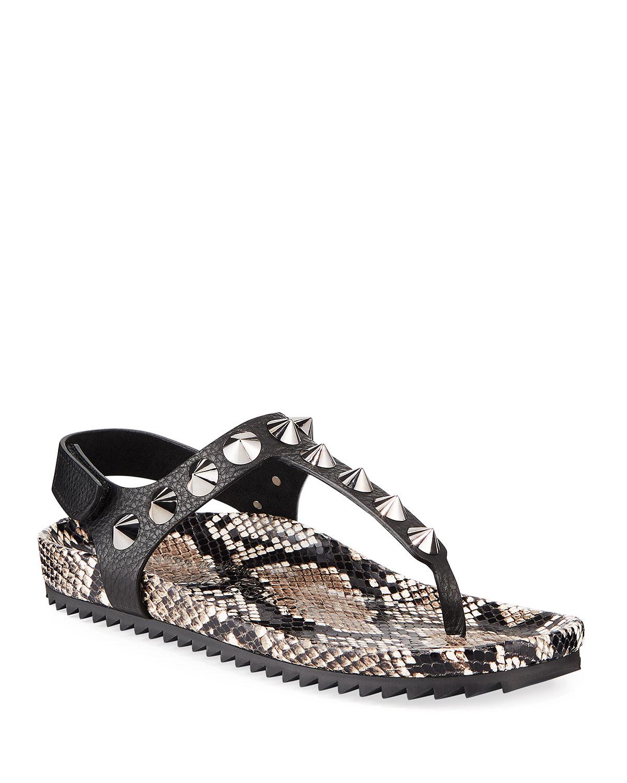 Athena Studded Thong Sandals