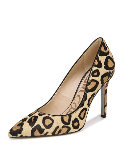 Hazel New Nude Leopard Pumps