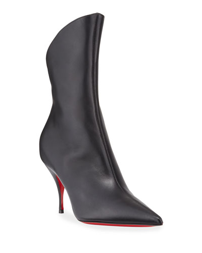 Clare Pointed-Toe Red Sole Booties