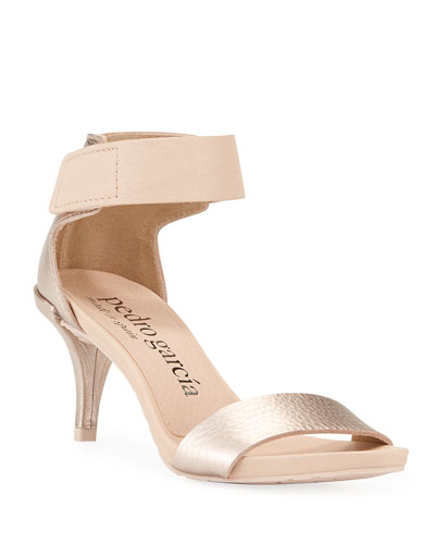 Winka Metallic-Leather Sandals