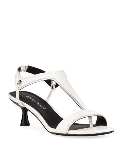 Caro T-Strap Leather Sandals
