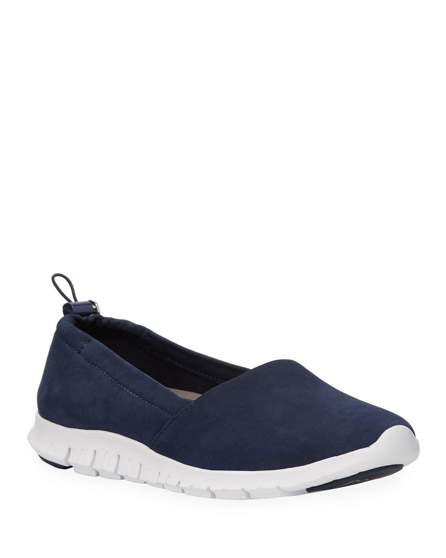 Zerogrand A-Line Nubuck Loafers