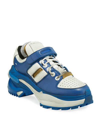 Deconstruct Leather Trainer Sneakers