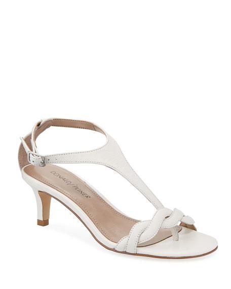 Donald J Pliner Kate Leather T-Strap Sandals