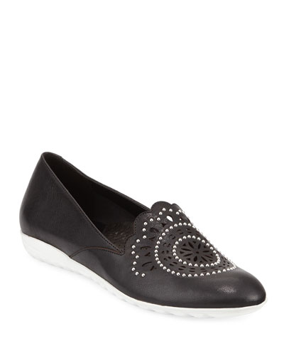 Ben Embellished Leather Comfort Loafers