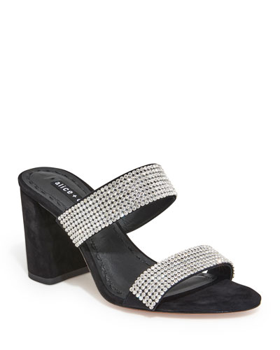 Laleah Block-Heel Slide Sandals