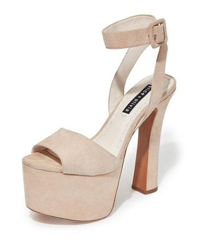 Reeta Platform Peep-Toe Sandals
