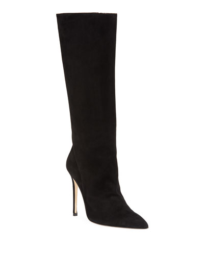 865947e7a67 Pointed Toe Suede Boot | Neiman Marcus