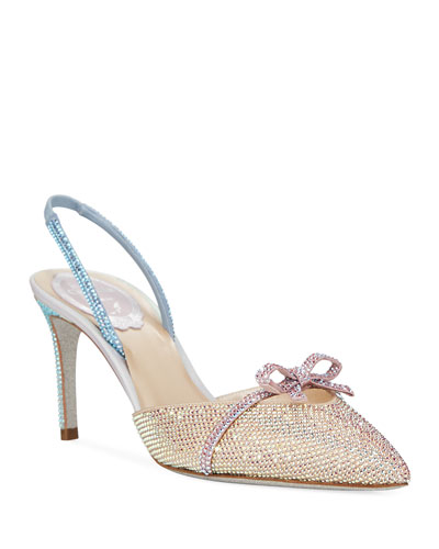 Strass Crystal-Embellished Bow Pumps