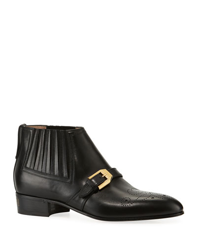 Worsh 40mm Smooth Leather Booties