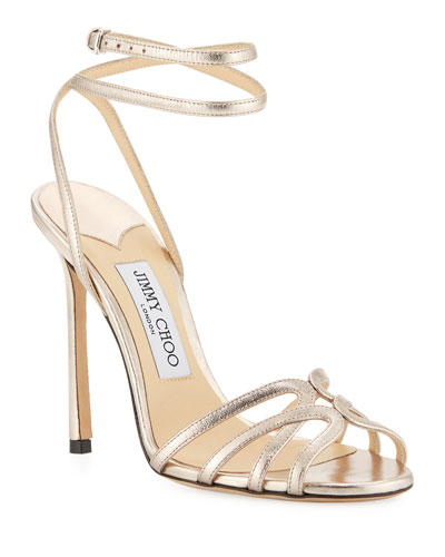 cd10f4d80ce0 Quick Look. Jimmy Choo · Mimi Metallic Leather Sandals