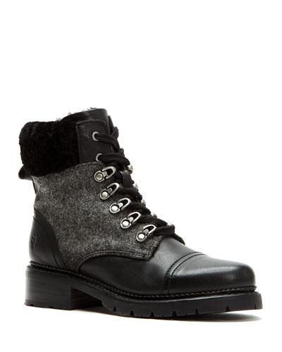 Samantha Fur-Trim Hiker Boots