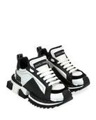 Dolce & Gabbana Super Queen Colorblock Trainer Sneakers