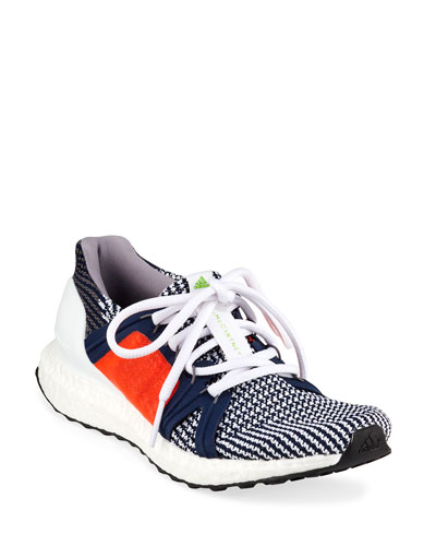 UltraBoost Colorblock Knit Sneakers, Blue/Orange