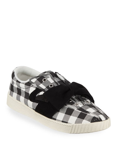 Nylite Bow Gingham Sneakers