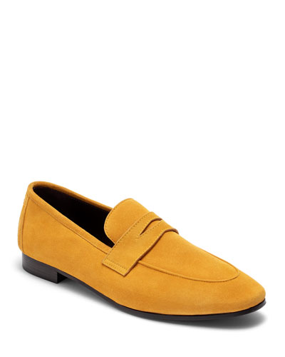 Van Gogh Suede Penny Loafers