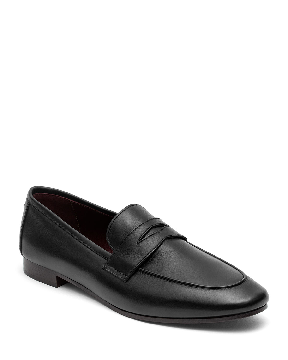 Flaneur Leather Flat Penny Loafers
