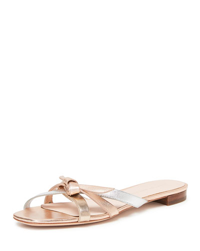 Eveline Delicate Strappy Flat Slide Sandals