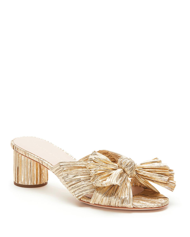Emilia Pleated Knot Slide Sandals