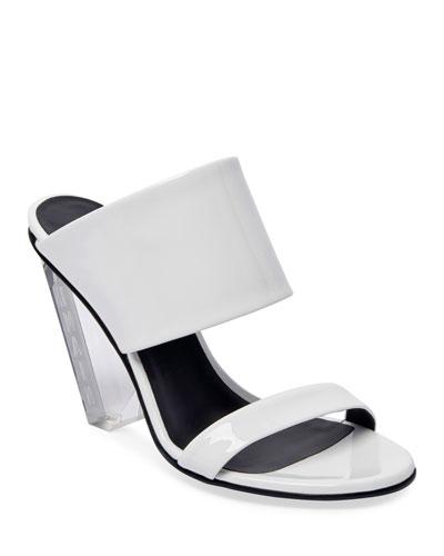 Lory Shiny Slide Sandals