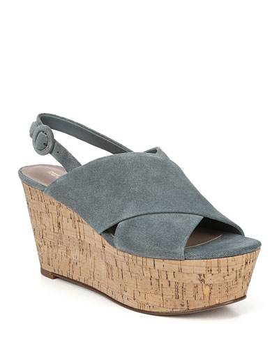 Juno Suede Platform Wedge Sandals