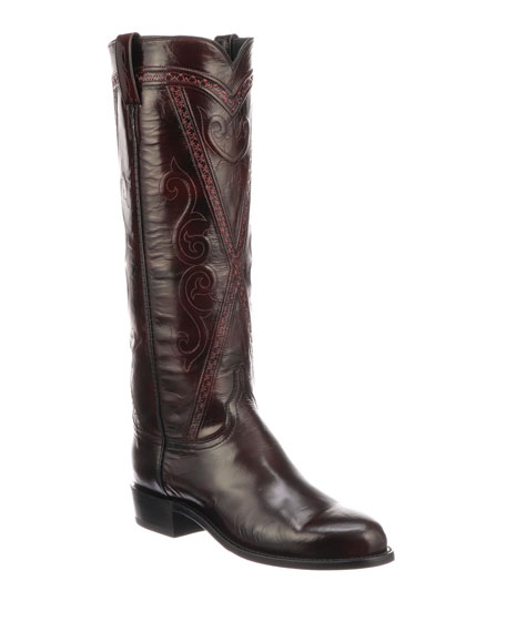 Lucchese Dora Crisscross Western Boots (Made to Order)