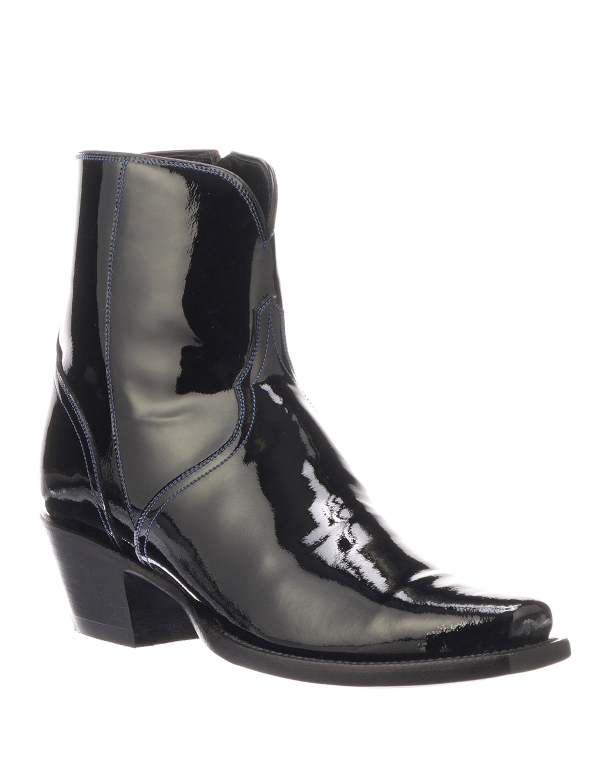 Paz Shiny Ankle Boots
