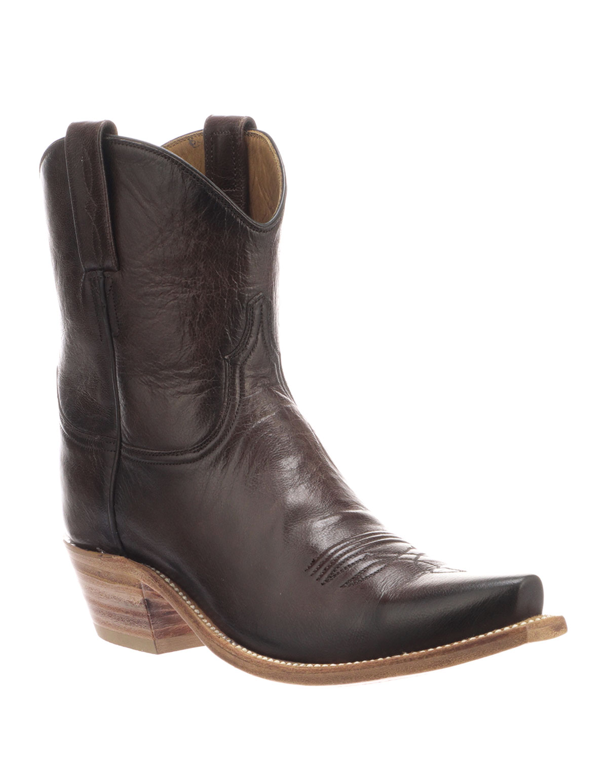 Gaby Leather Pull-On Boots