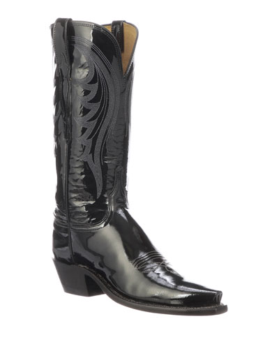 Dee Shiny Western Knee Boots