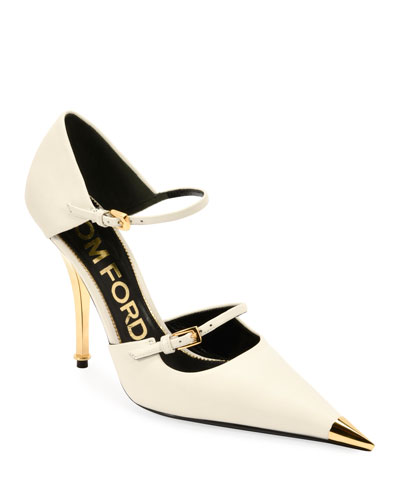 ed068219196a Quick Look. TOM FORD · Two-Strap Mary Jane Pumps with Pointed ...