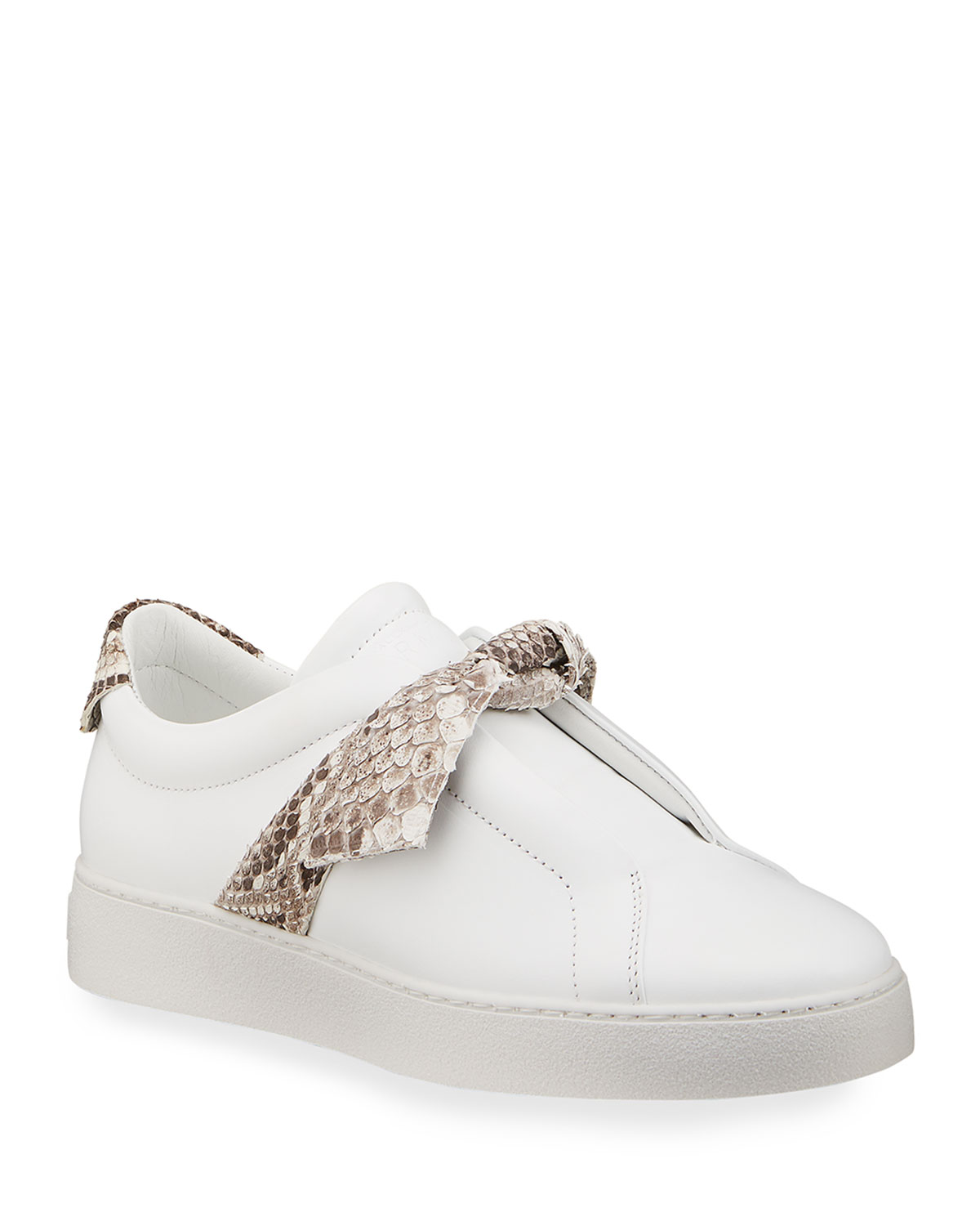 Jungle Laceless Python Bow Sneakers