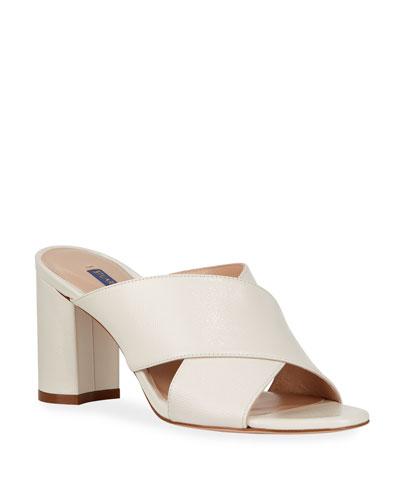 Galene Patent Crisscross Slide Sandals
