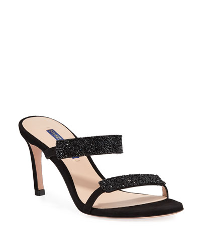 887a934dcaa Quick Look. Stuart Weitzman · Razzle 75 Crystal-Embellished Sandals.  Available in Black