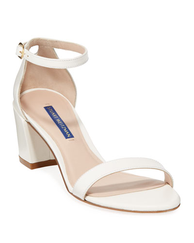 Simple Caviar Patent Ankle-Strap Sandals