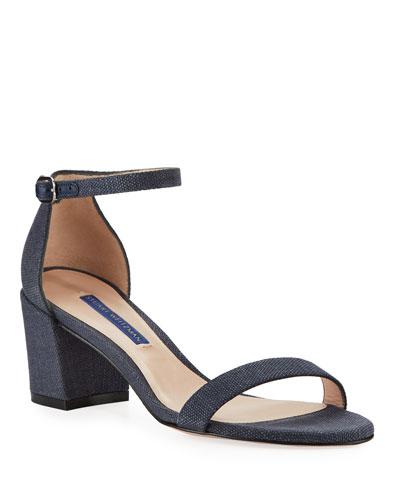 Simple Canvas Ankle-Wrap Sandals