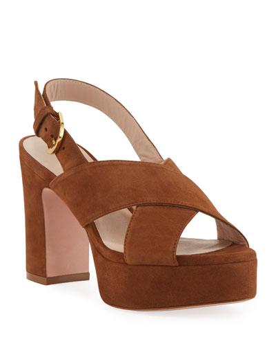 Jerry Suede Platform Sandals