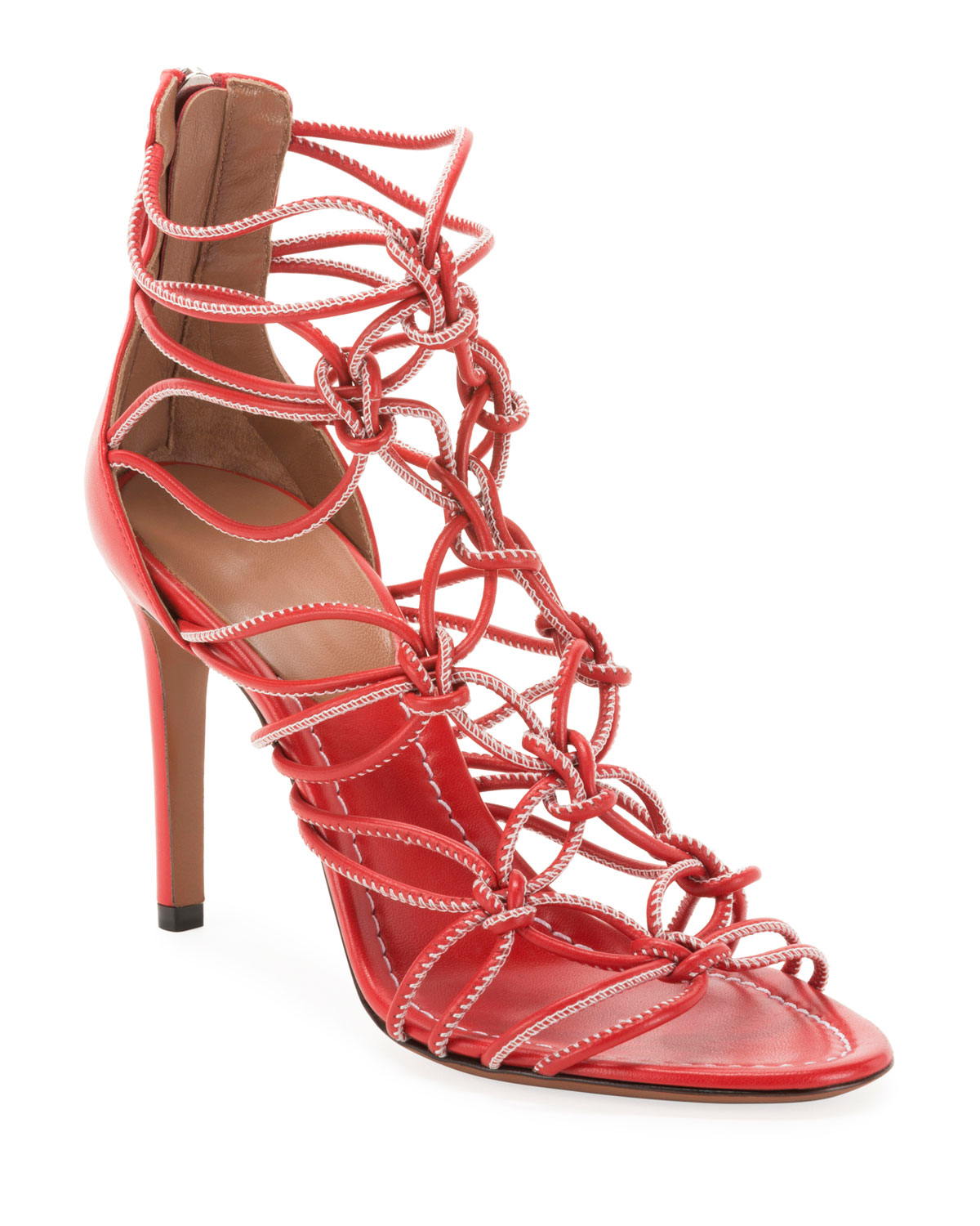 Elegant Knotted Cord Zip Sandals