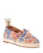 Chloe Woody Tapestry Slip-On Espadrilles