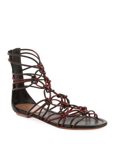 Elegant Cord Flat Sandals