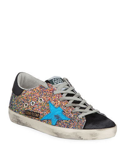 Superstar Glitter Low-Top Sneakers