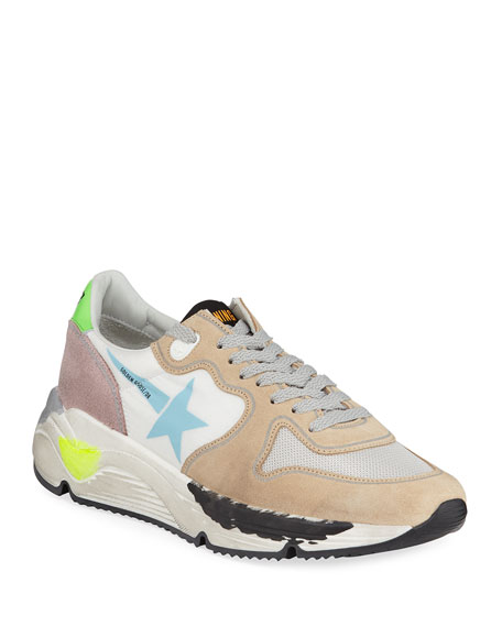 Golden Goose Running Sole Mixed Media Sneakers