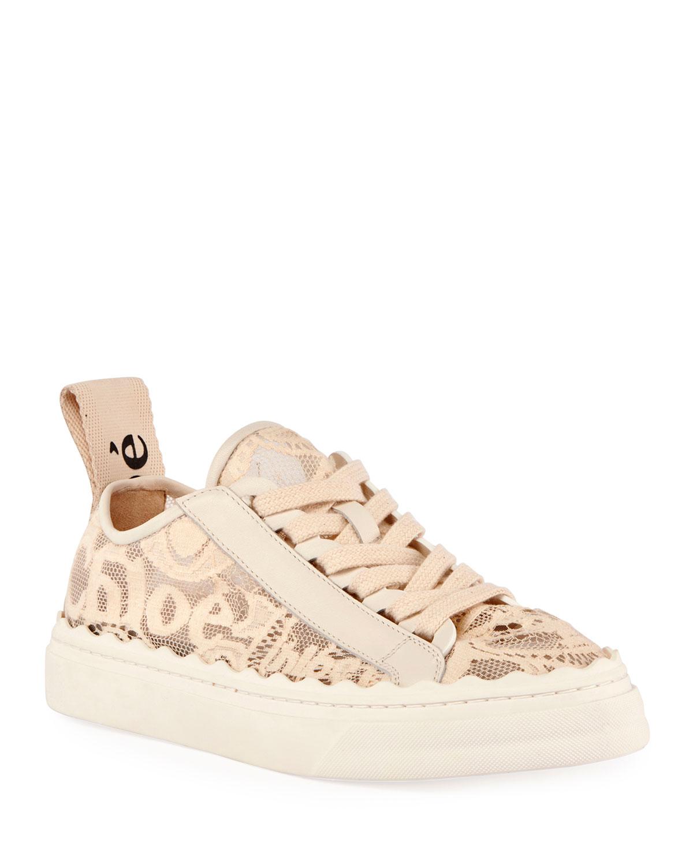 Lauren Logo Lace Low-Top Sneakers