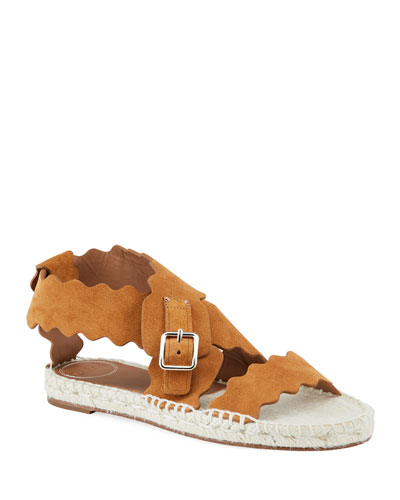 Lauren Flat Suede Wrap Sandals