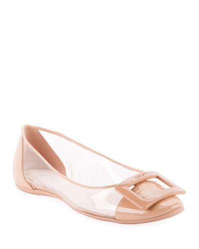 Gommette PVC Ballet Flats