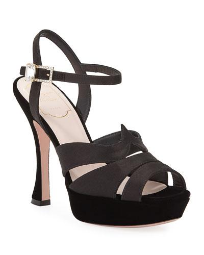 Viv Velvet Platform Sandals