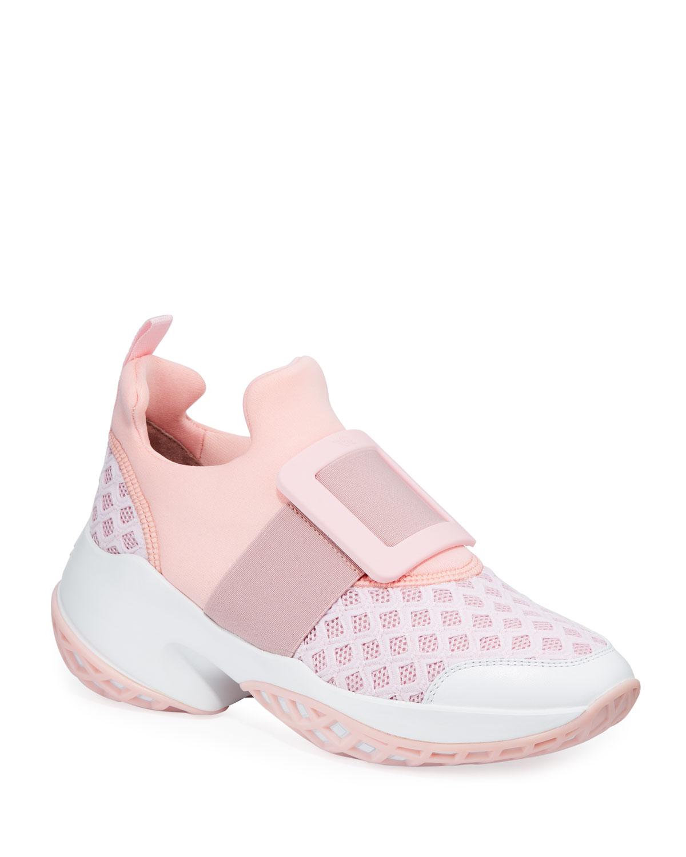 Viv' Run Knit Platform Sneakers
