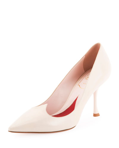 I Love Vivier Heart-Shape Leather Pumps