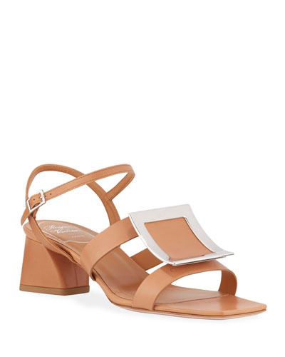 Strappy Leather Buckle Sandals